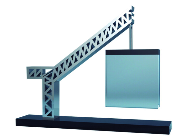 Construction Crane Themed Financial Tombstone