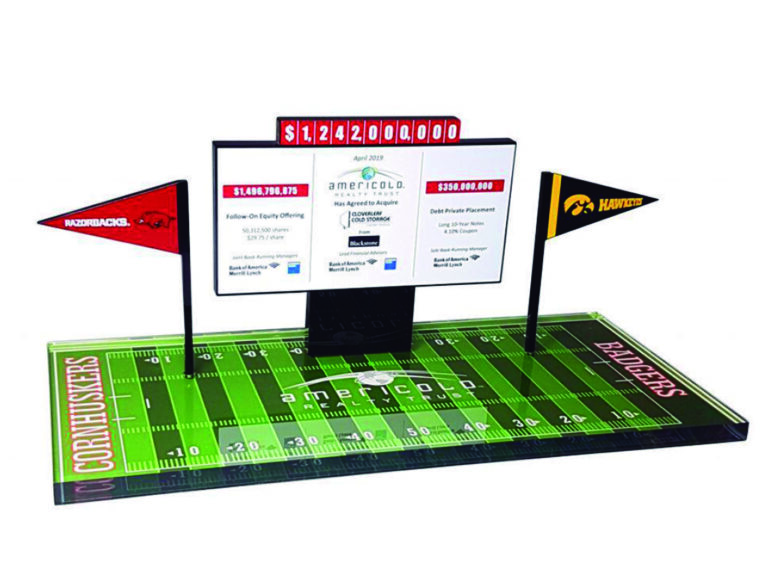 Football Themed Financial Tombstone
