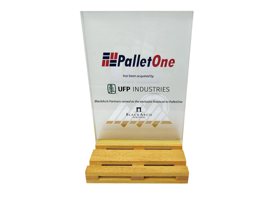 Wood Pallet Financial Tombstone